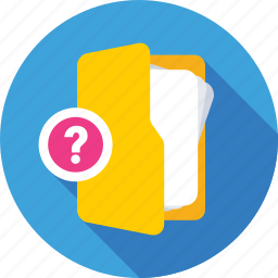 faq, faq folder, folder, question mark, questionnaire icon