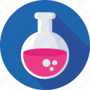 flask, lab equipment, elementary flask, conical flask, lab flask icon