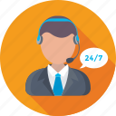 client support, customer representative, customer support, help center, helpline, online support icon