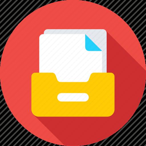 data storage, document folder, file folder, file storage, files icon