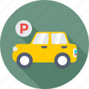 car, car parking, parking, parking area, parking sign icon