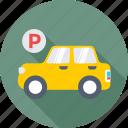 car, car parking, parking, parking area, parking sign