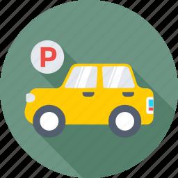 car, car parking, parking, parking area, parking sign icon