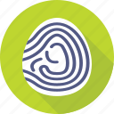 biometric, fingerprint, identification, investigation, thumbprint icon