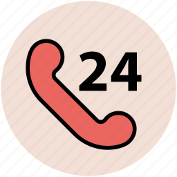 around the clock, customer service, customer support, service, twenty four hour icon