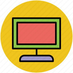 computer monitor, flat screen, lcd, led, monitor, wide screen icon