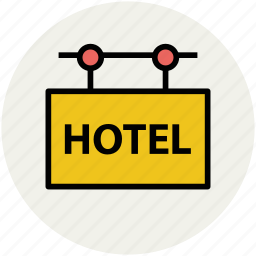 hanging sign, hotel, hotel information, info, information, sign icon