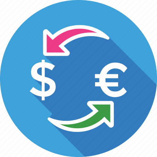 currency, currency exchange, dollar exchange, foreign exchange, money exchange icon