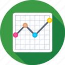 chart, diagram, economics, graph, line chart icon