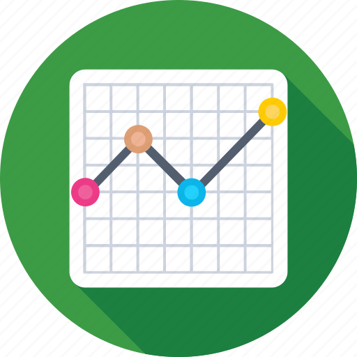 chart, diagram, economics, graph, line chart icon