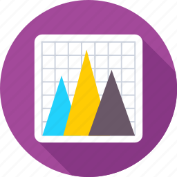 pyramid chart, pyramid graph, triangle pattern, trigon, tripod icon