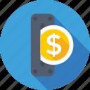 coin, coin slot, coins game, dollar, insert coin icon