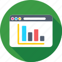 analytics, infographics, online graph, web, web analytics icon
