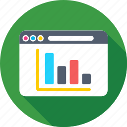 analytics, infographics, online graph, web, web analytics icon