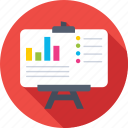 business, business presentation, easel, graph presentation, statistics icon