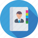 directory, phonebook, address book, biography, contacts icon
