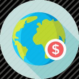 business, dollar, economy, global business, marketing icon