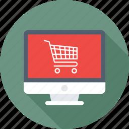 e shop, ecommerce, online shopping, shopping catalogue, shopping trolley icon