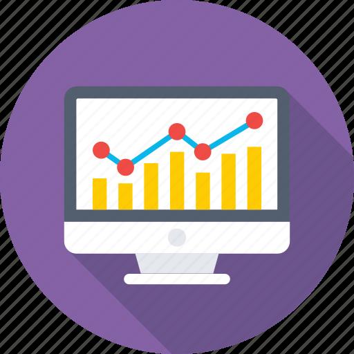 analytics, infographics, line chart, online graph, web analytics icon