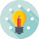 business idea, business innovation, idea, invention, pencil icon