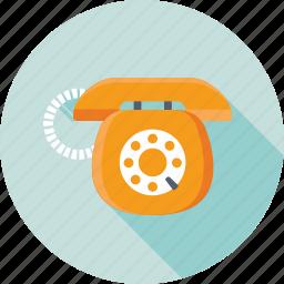 call center, communication, handset, retro telephone, telecommunication icon