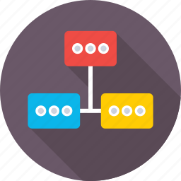 connections, hierarchy, scheme, structure, workflow icon