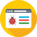 bug, insect, ladybird, web error, webpage