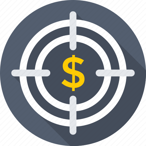 business target, dollar, focus, selector, targeting icon