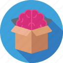 box, brain, creative mind, idea, idea develop icon