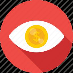 business view, eye, seo, seo visibility, view icon