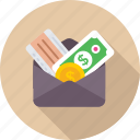 cash, currency, money, purse, wallet icon