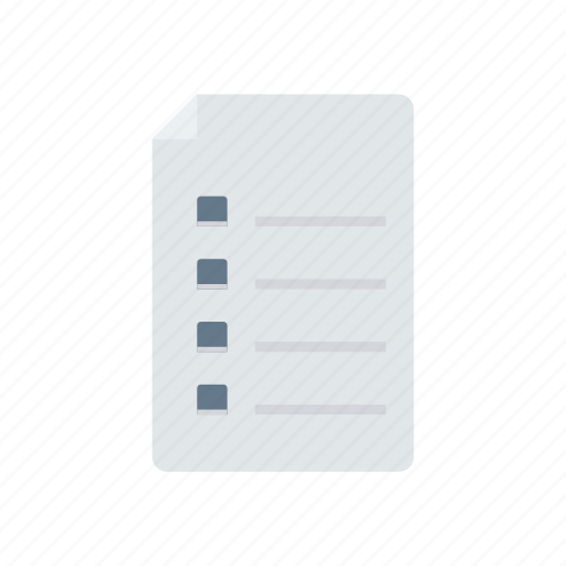 Bill, document, file, list icon - Download on Iconfinder