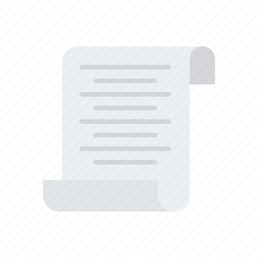 bill, document, flyer, invoice icon