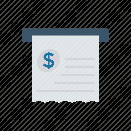 bill, checkout, invoice, receipt icon