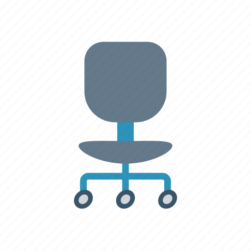 chair, furniture, office, work icon