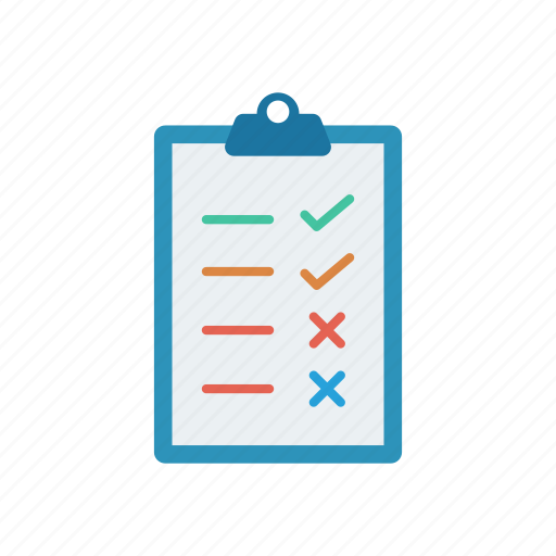 checklist, clipboard, file, list icon