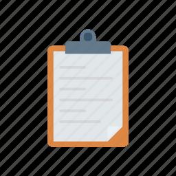 checklist, clipboard, office, paper icon