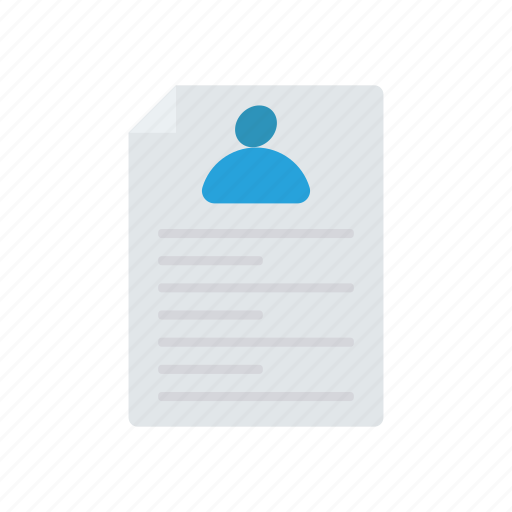 career, document, office, resume icon