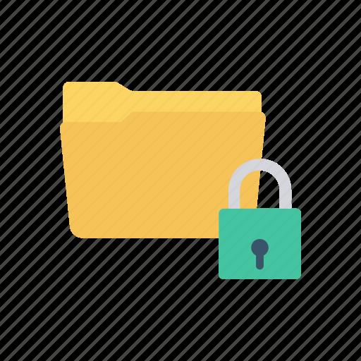 folder, lock, password, protect icon
