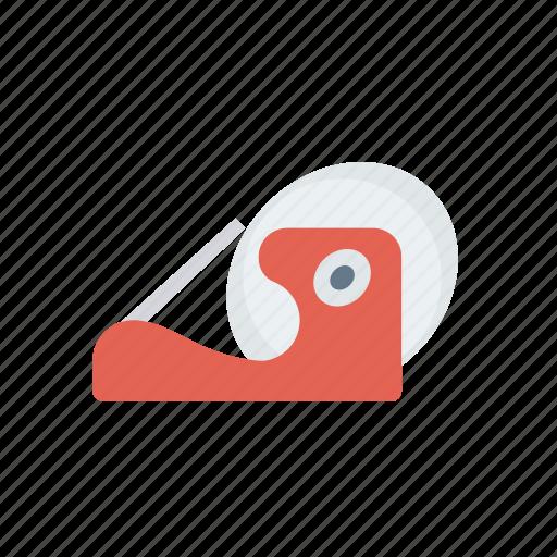 measure, office, reel, tape icon