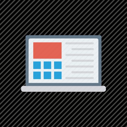 computer, display, monitor, screen icon