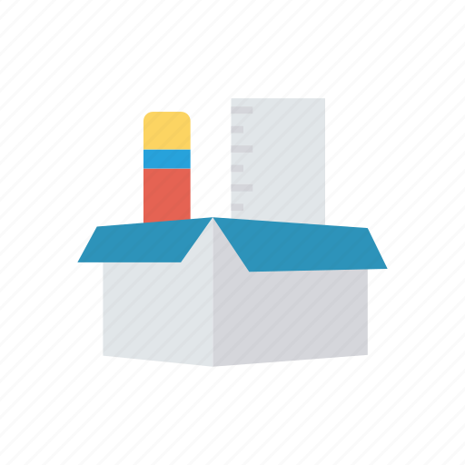 Box, pencil, scale, writing icon - Download on Iconfinder