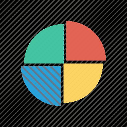 graph, parts, percentage, usage icon