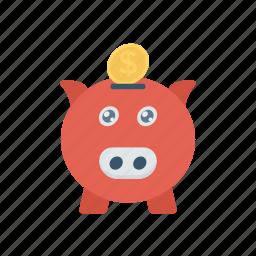 cash, money, piggybank, savings icon