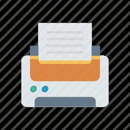 fax, output, print, printer icon
