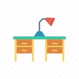 lamp, school, table, working icon