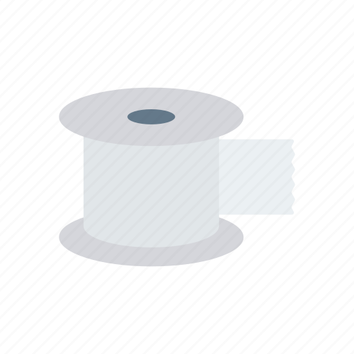 measuring, reel, tape, tool icon