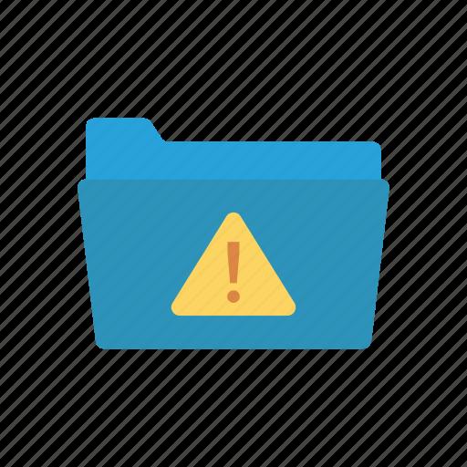 alert, document, folder, warning icon