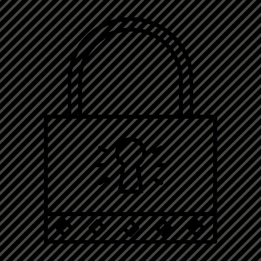 lock, padlock, password, secure icon