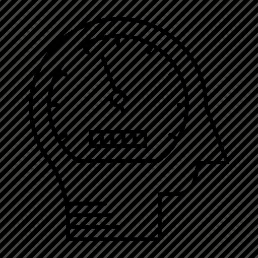 head, mind, performance, speed icon